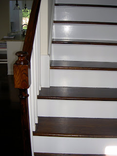 stair bannister after