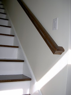 stairs and railing after