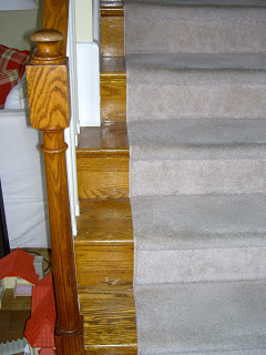 stair bannister before