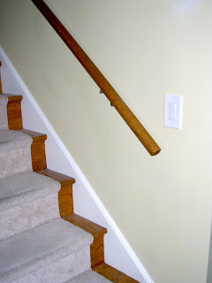 stairs and railing before