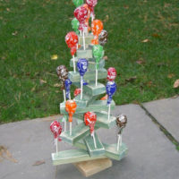 scrap wood candy advent tree