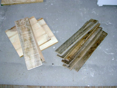 wood boards for rolling crate