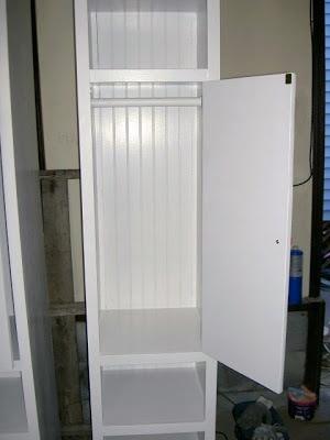diy tower storage shelves with doors