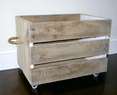diy rolling crate