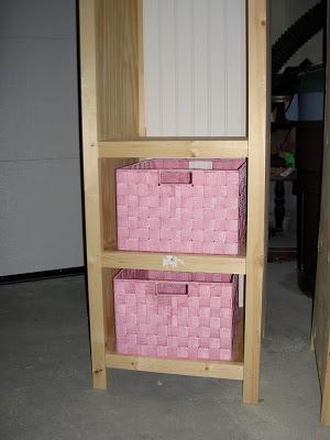 bins for storage bookshelf