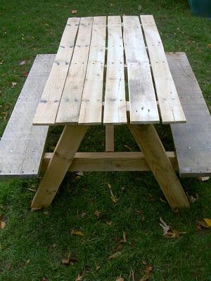 kids size picnic table