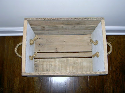 rolling crate with rope handles