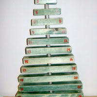scrap wood advent candy tree