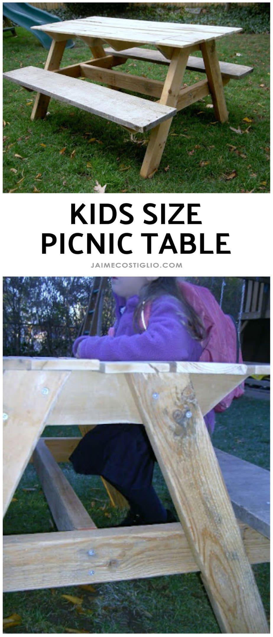 diy kids size picnic table