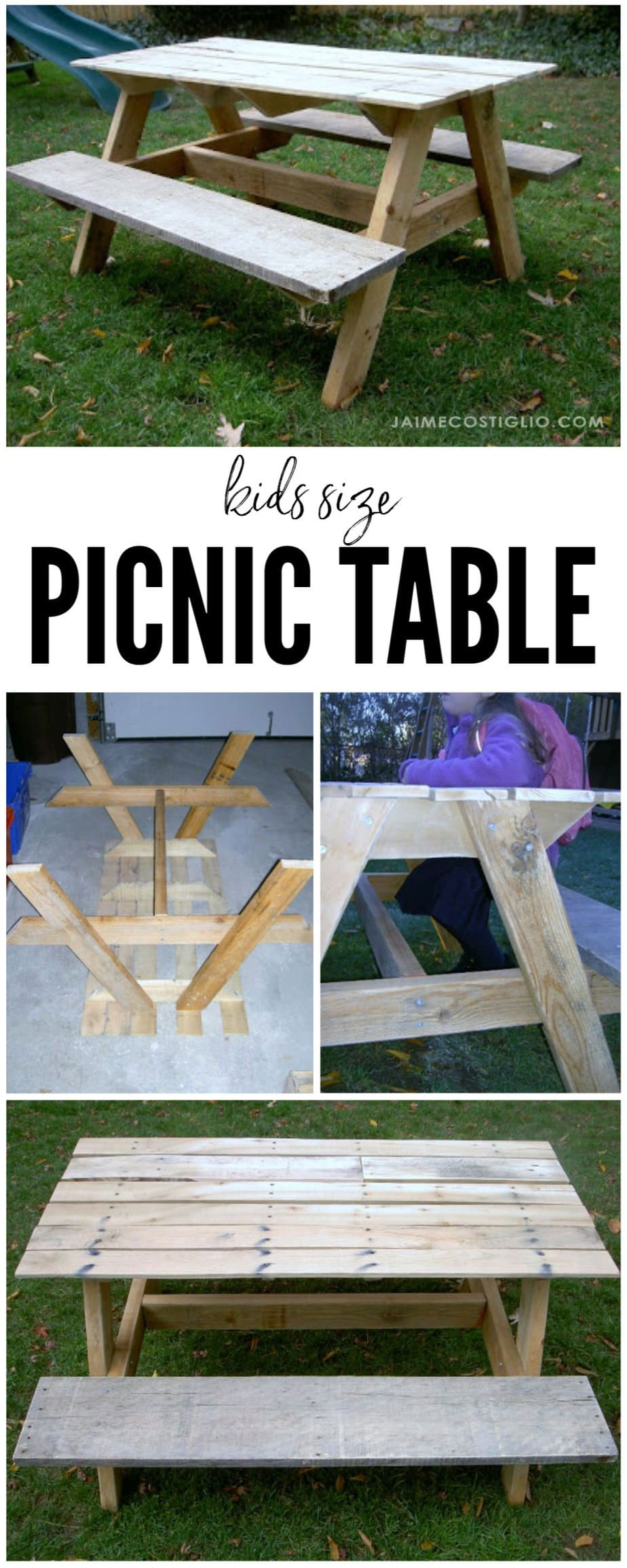 kids size picnic table pallet wood