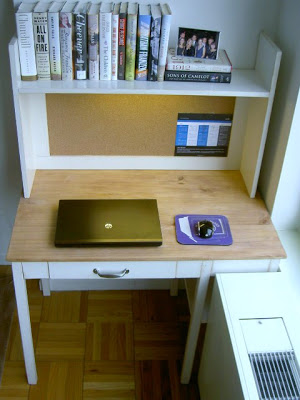 diy simple desk for NYC apartment
