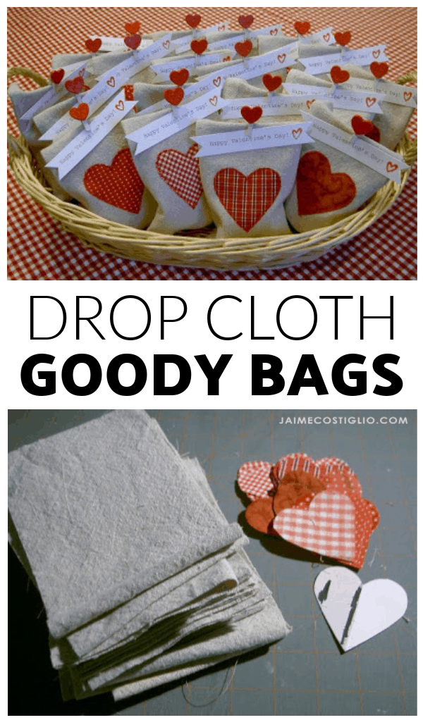 diy drop cloth goody bags