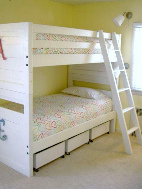 bunk beds with underbed storage bins & DIY Underbed Storage Bins from Plywood - Jaime Costiglio
