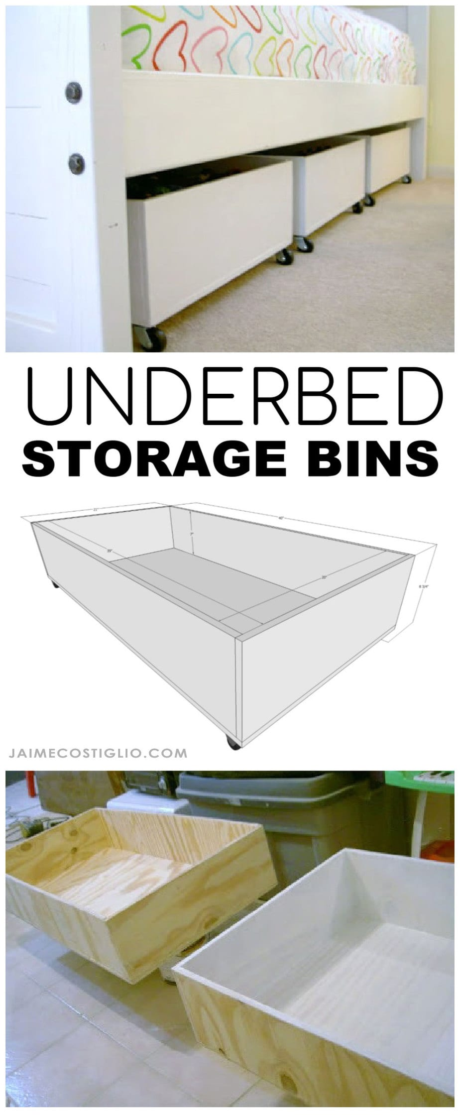 Diy underbed storage bins