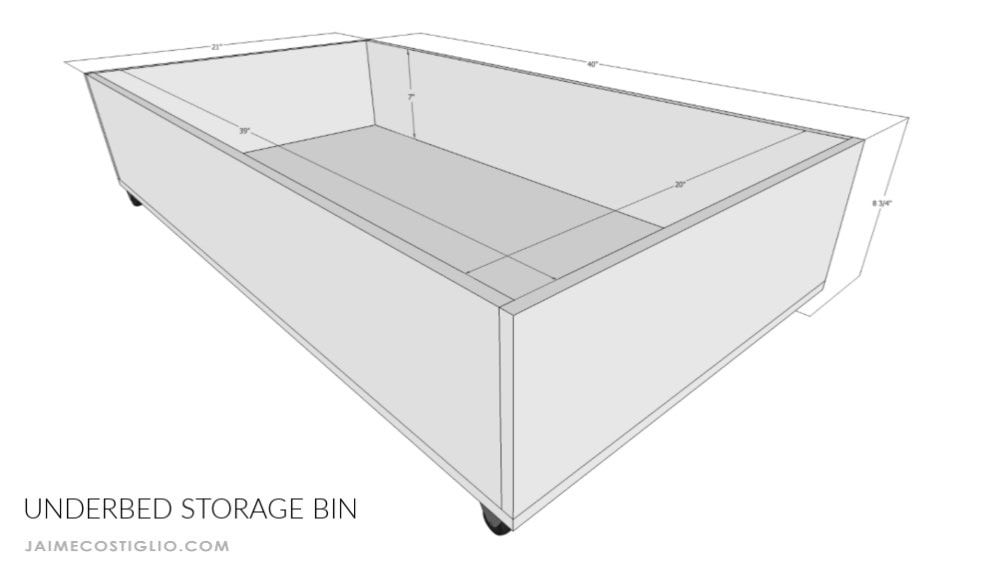 underbed storage bins dimensions