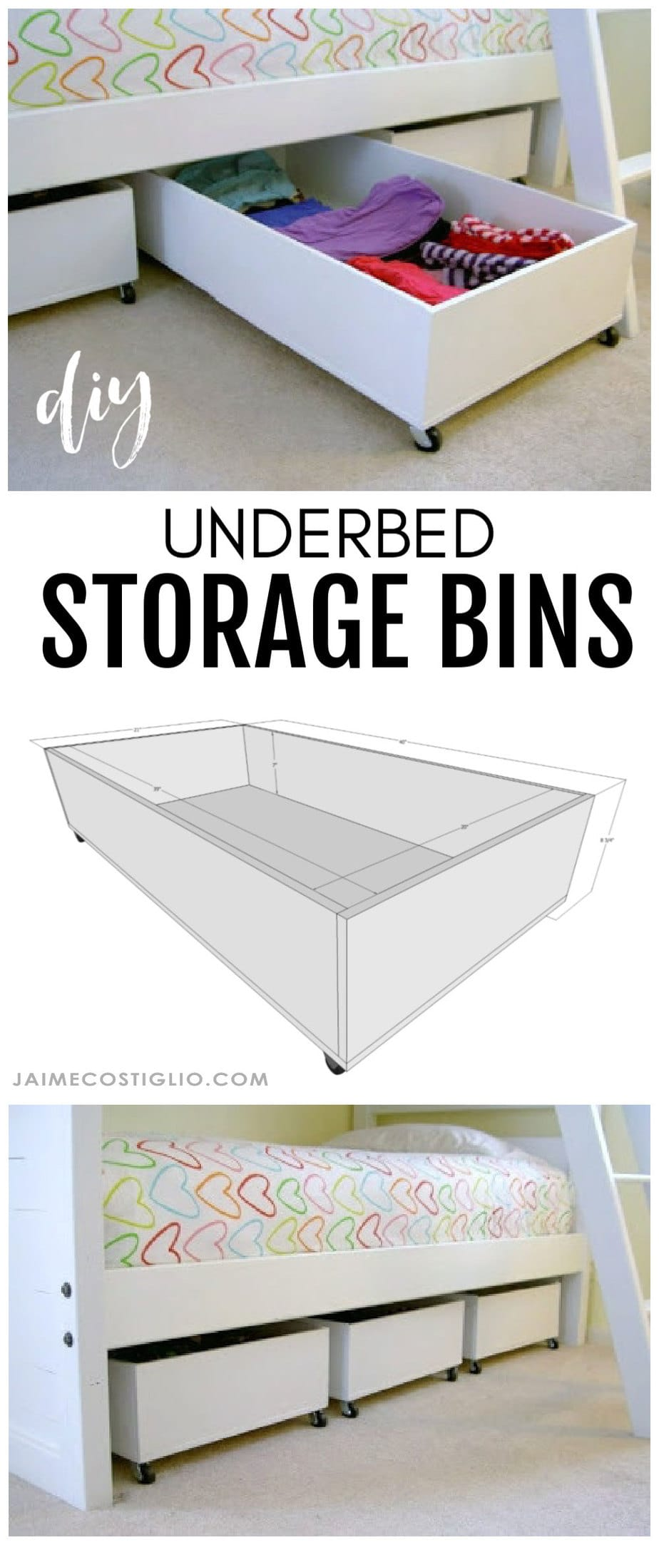 underbed storage bins free plans