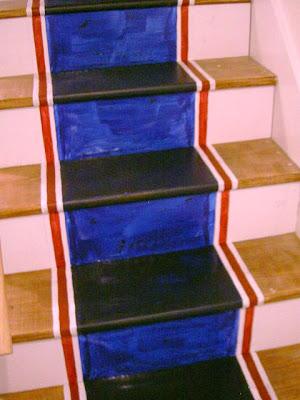 first coat blue paint