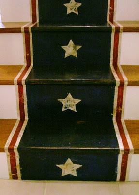 stars painted on risers