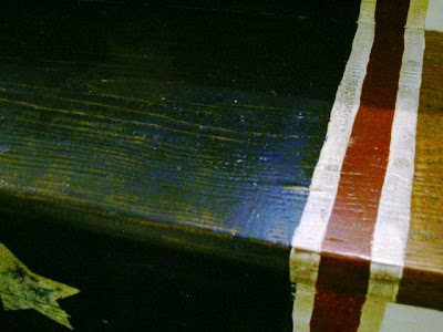 painted stripes detail