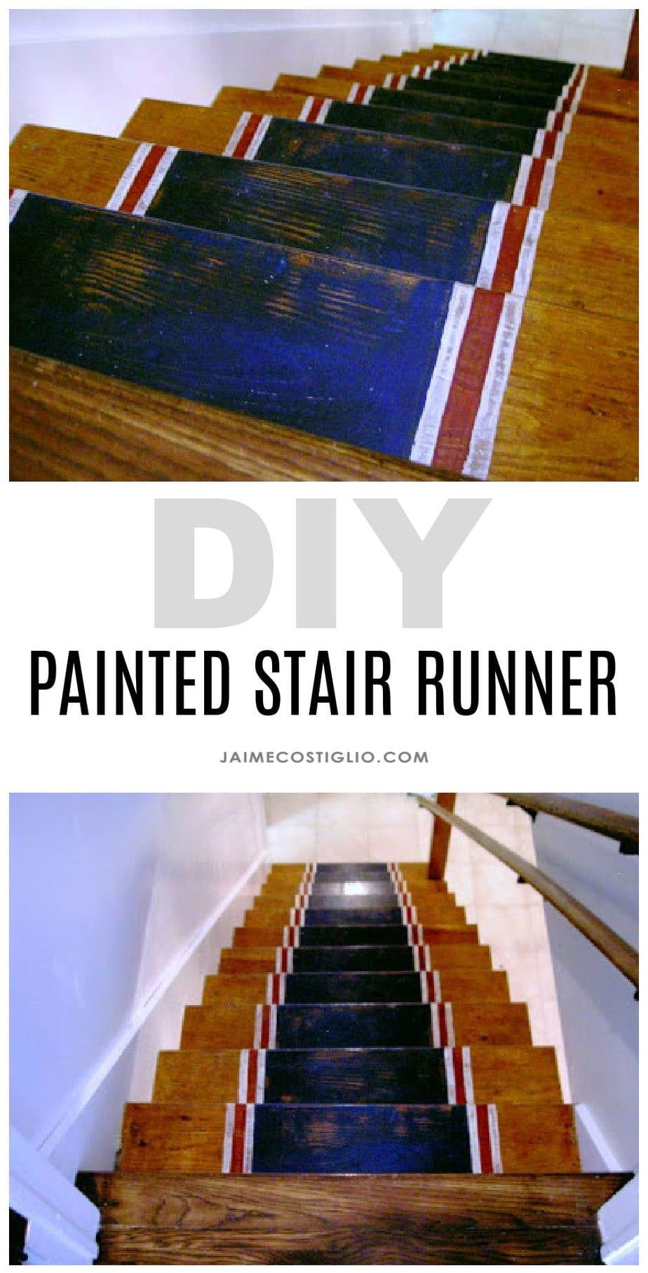painted stair runner tutorial