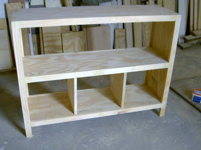 how to build free standing bookshelves