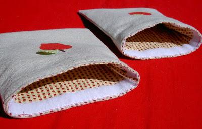 velcro closure on drop cloth pouch
