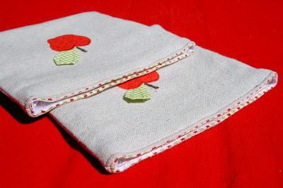 cotton lined drop cloth pouch