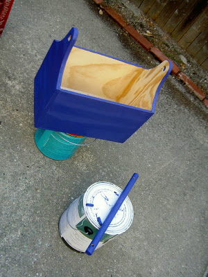 wood trug painted