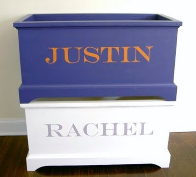 open toy box with personalization