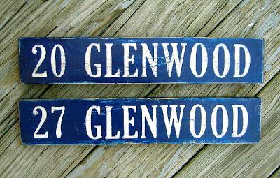 diy handpainted address plaques