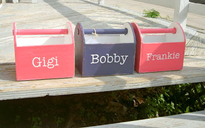 kids wood trugs with personalization
