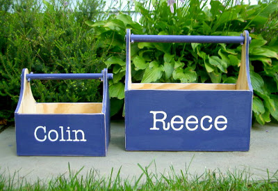 wood trugs with personalization