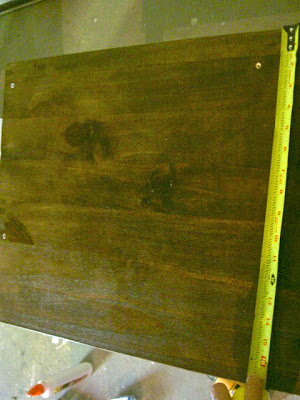 stained bench top