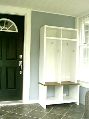 diy entryway locker and bench cubby units