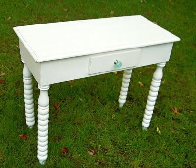 refinished and refurbished vanity desk