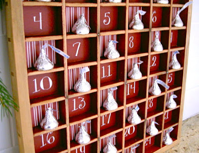 type tray advent calendar