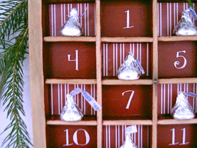 advent countdown calendar detail