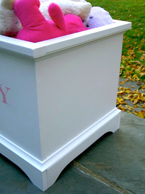 open toy box with simple trim