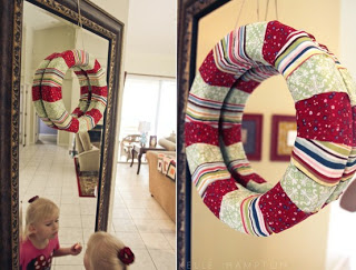 fabric wrapped wreath inspiration