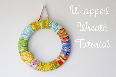 In Color Order fabric wrapped wreath