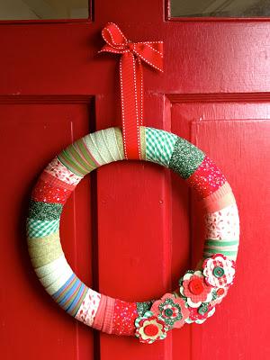 simple wreath on door