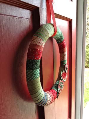 wreath lays flat on door