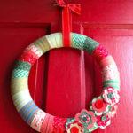 DIY Fabric Wrapped Wreath
