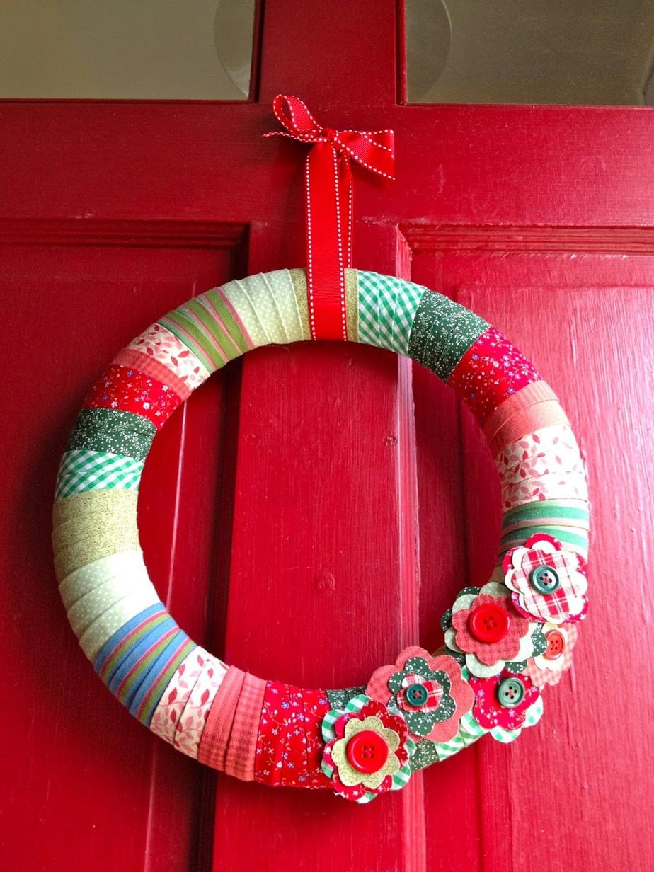 Diy Fabric Wrapped Wreath Jaime Costiglio