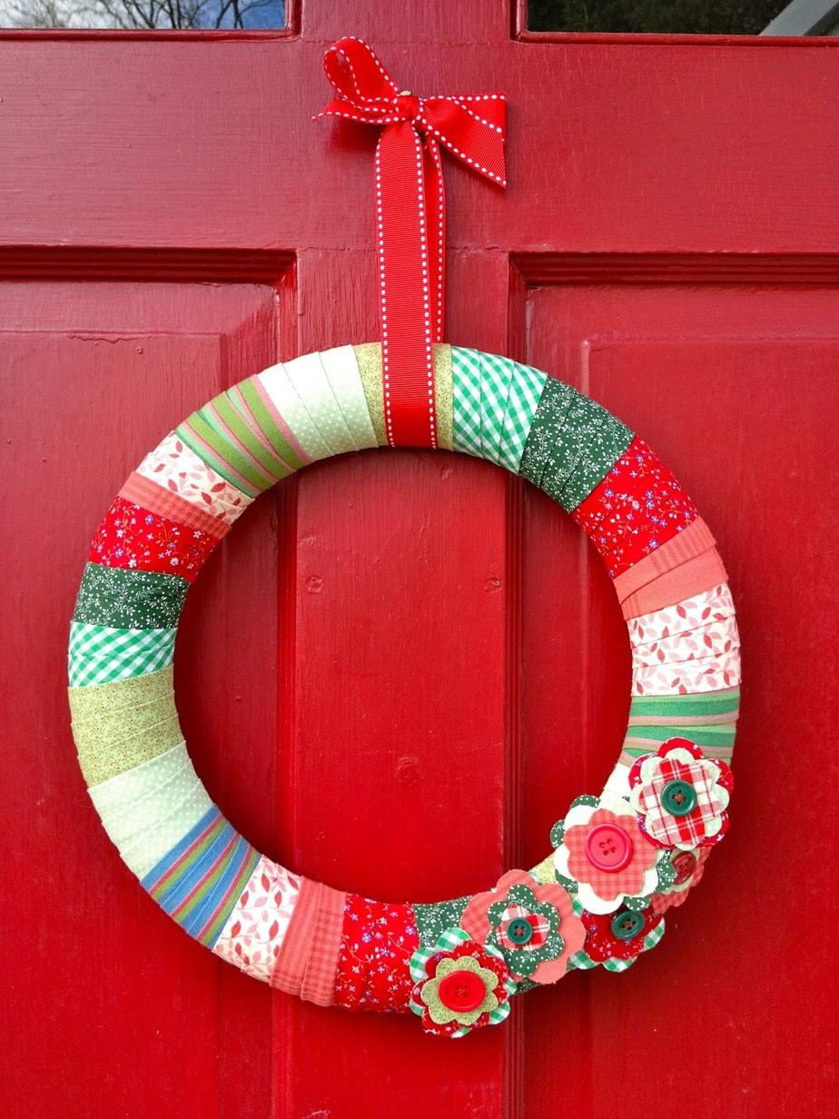 Easy Diy Door Xmas Decoration