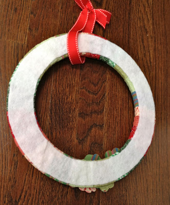 felt on back of wreath to protect door