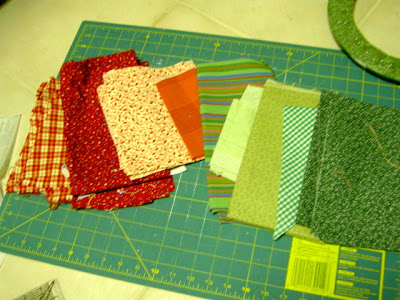 scrap fabric selections