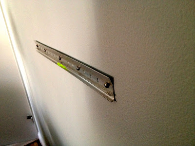 french cleat installed on wall