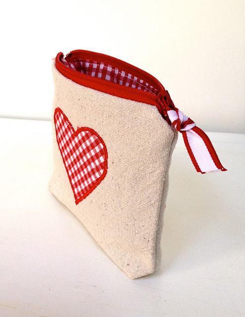 mini canvas pouch unzipped