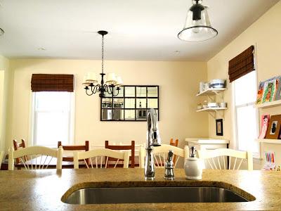 kitchen island sink view